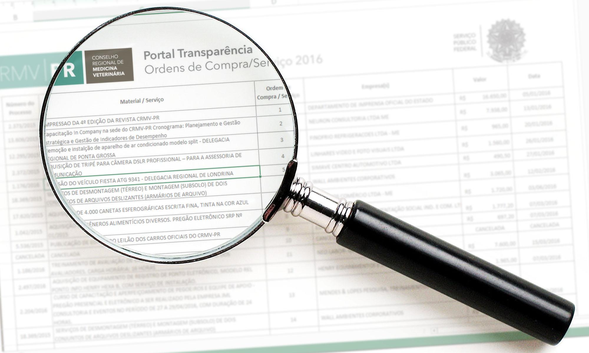 Portal da Transparência e Prestação de contas